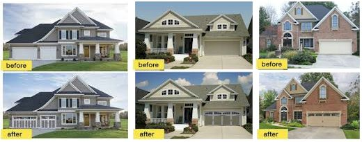 before-after-garage-door-replacement